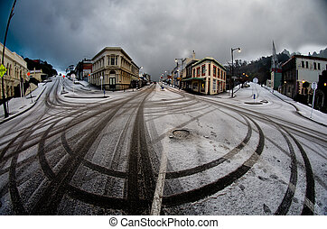Snow in Port Chalmers