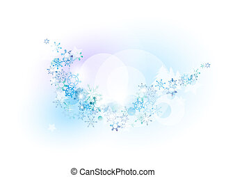 snow in the background space for your text