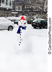 Snow in the city - Snowman