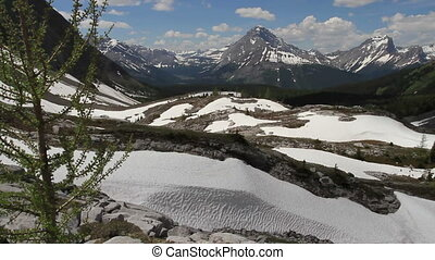 Snow in the high alpine