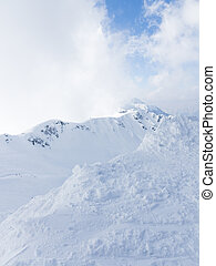 Snow in the mountains of Sochi
