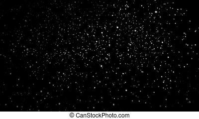 isolated on black background, loop