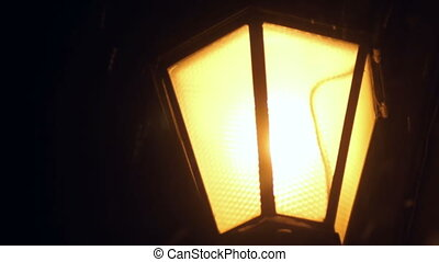 Snow lamp light snow street