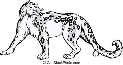 Snow leopard design