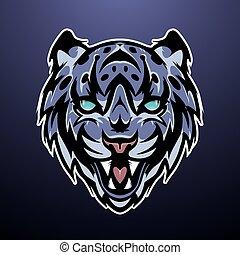 Snow Leopard Mascot Color Logo Vector Illustration