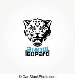 Snow Leopard mascot vector illustration