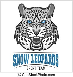 Snow Leopards - vector sport emblem