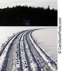 Snow machine tracks