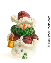 snow-man - snowman toy, isolated