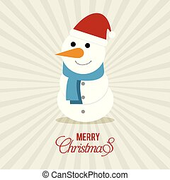 Snow man with pattern background