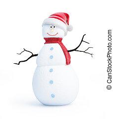 snow men santa hat