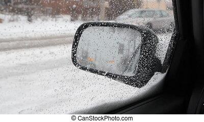 Snow mirror.