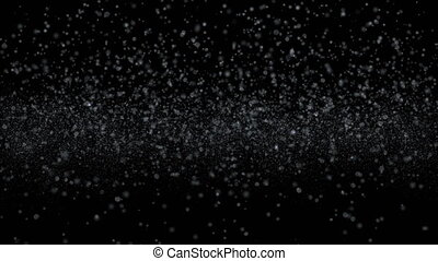 snow motion flakes fall down 4k - snow motion background ...
