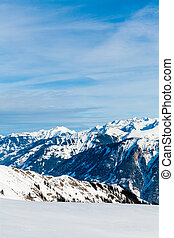 Snow Mountain. Alps Alpine Landscape of Mountain
