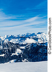 Snow Mountain. Alps Alpine Landscape of Mountain