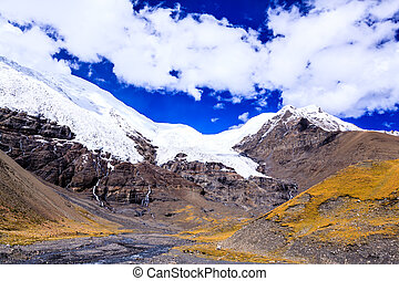 Snow mountain at the Tibet