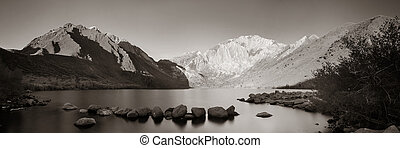 Snow Mountain lake - Snow mountain and lake with reflections...