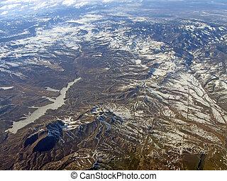 snow mountain landscape, nature environment