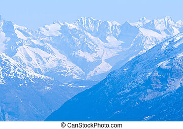 Snow Mountain Range Landscape