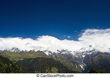 Snow Mountains Landscapes of Himalayas Nepal