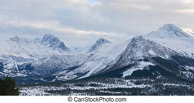 Snow mountains, Norway
