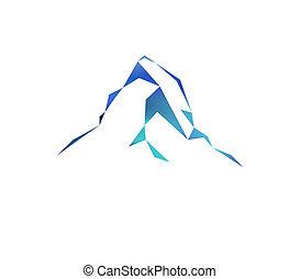 Snow mountains peak (Matterhorn) logo. Can be used as sports...