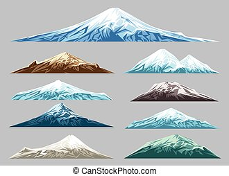 Snow mountains set for logo