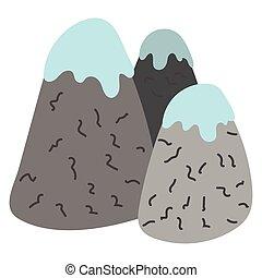 snow mountains with snow icon