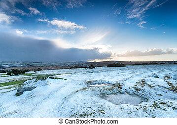 Snow on Bodmin Moor