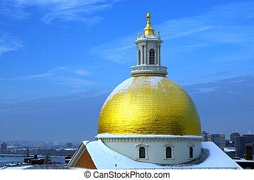 snow on gold