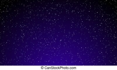 Snow on Purple Gradient Loop - Snowflakes fall over a...