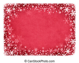 Snow on Red Texture