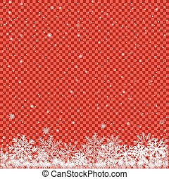 snow on red transparent background