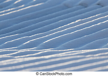 Snow on the roof as a background