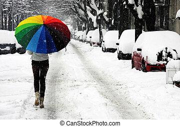 Snow on the street