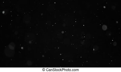 Snow Particles Falling From the Night Sky - Blizzard, snow...