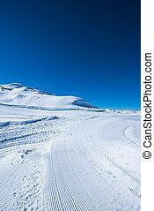 Snow path ski track surface