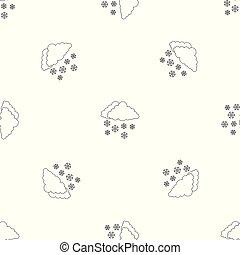 Snow pattern seamless vector