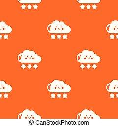 Snow pattern vector orange