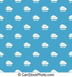 Snow pattern vector seamless blue