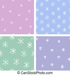 snow patterns set