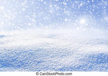 snow., paysage., hiver, fond
