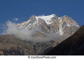 view from Muktinath - snow peak view from Muktinath Anapurna...