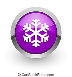snow pink glossy web icon