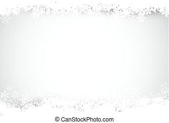 snow., plata, plano de fondo, navidad