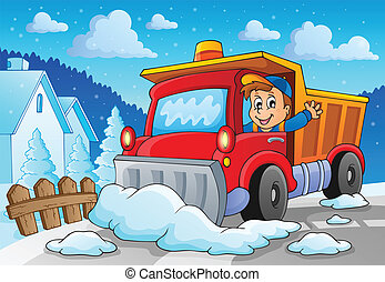 Snow plough theme image 2