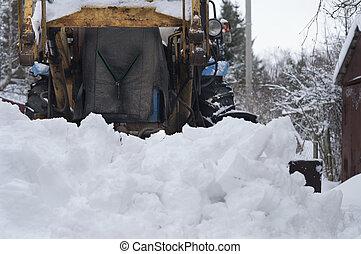 Snow Plow On Street