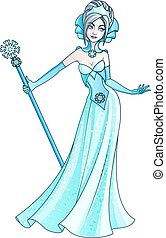 Snow Queen fairy tale character