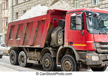 Snow removal on the streets of the most painful European city