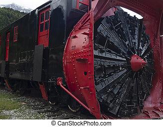 Snow Removal Train In Skagway